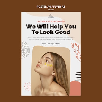 Natural and beauty concept poster template