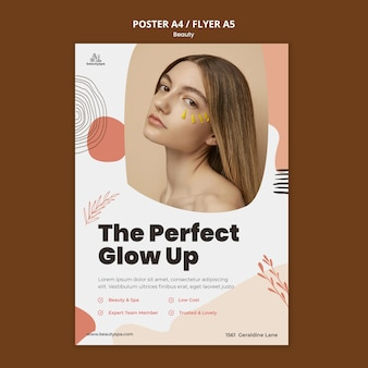 Natural and beauty flyer