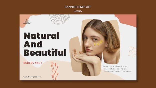 Modello di banner orizzontale naturale e di bellezza