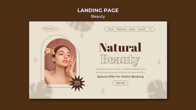 自然の美しさのランディングページテンプレート Premium Psd
