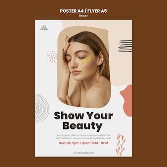Natural and beauty poster template