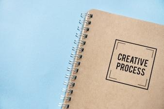 Natural brown paper notebook mockup