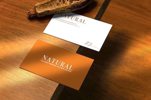 自然な名刺のモックアップ