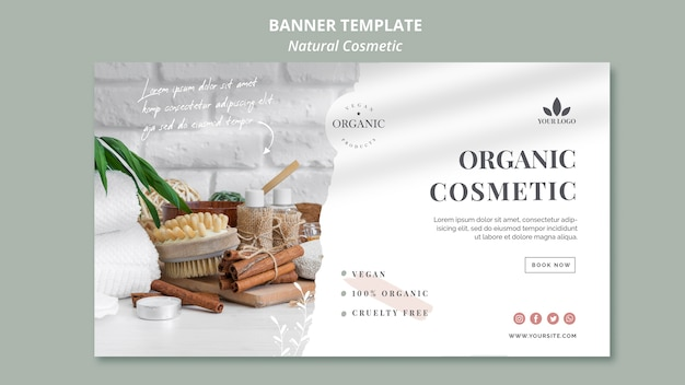 Natural cosmetics banner template