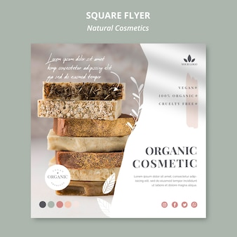 Natural cosmetics flyer template