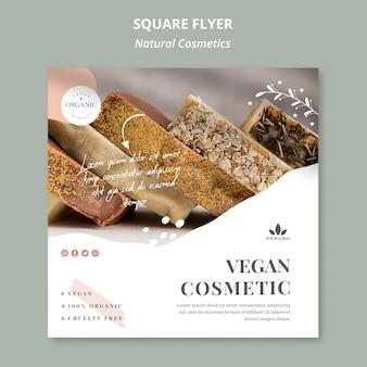 Natural cosmetics flyer