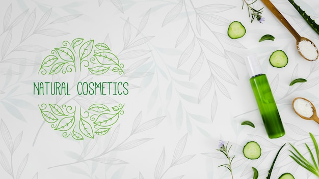 Natural cosmetics with organic oil