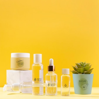 Natural creams and serums containers