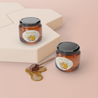 Natural honey product on table