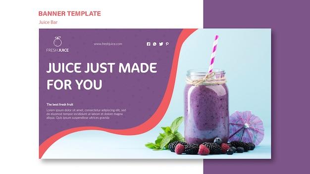 Natural juice bar banner template