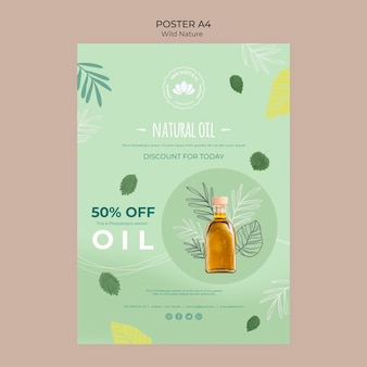 Natural oil discount poster template