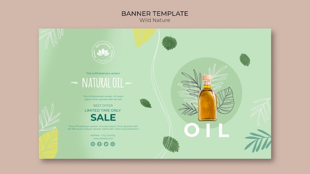 Natural oil offer banner template