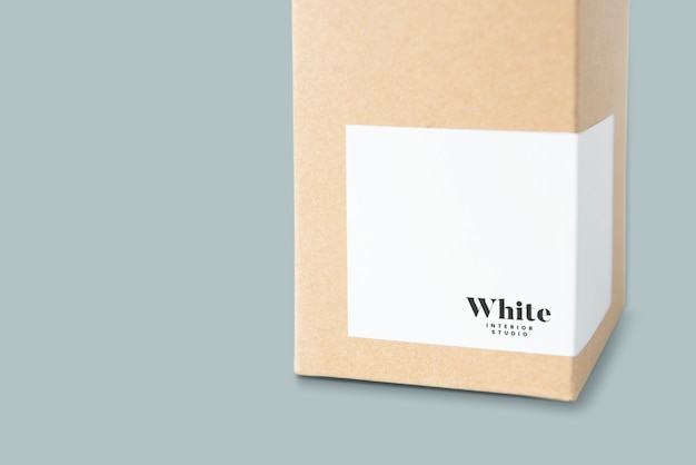 Natural paper box packaging mockup