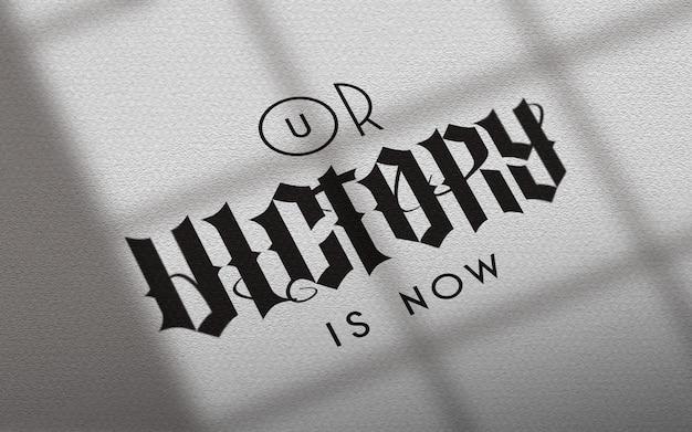 Натуральная бумага светлое окно логотип макет