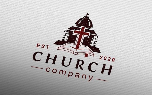 Natural paper logo mockup