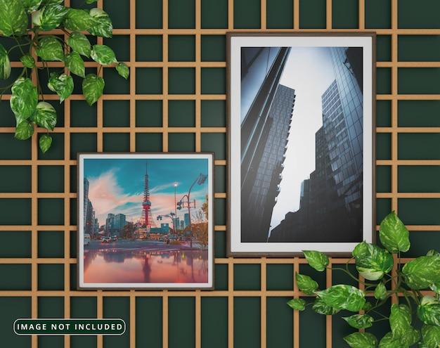 Natural photo frame mockup