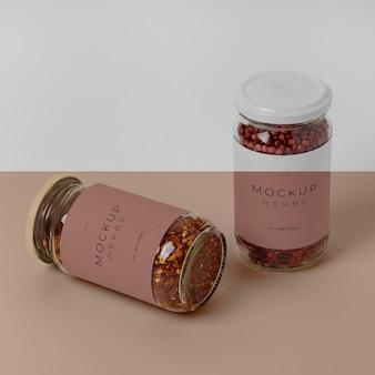 라벨 모형 구성 천연 향신료