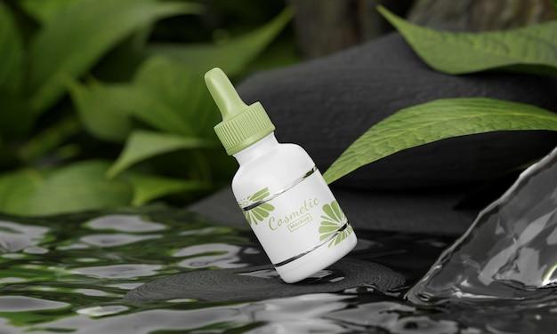 자연 컨셉 화장품 모형
