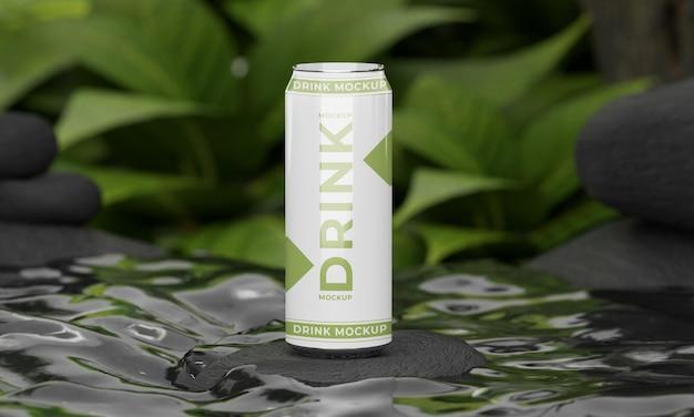自然の概念の飲み物はモックアップできます