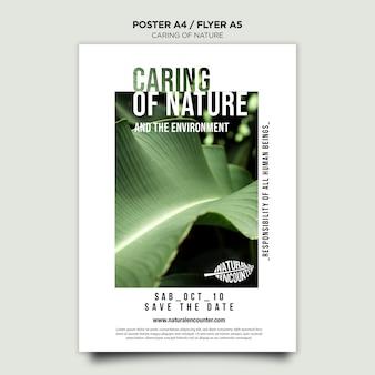 Шаблон плаката концепции природы