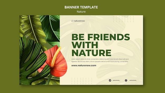 Nature conservation banner template