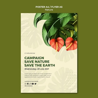 Poster di campagna per la conservazione della natura
