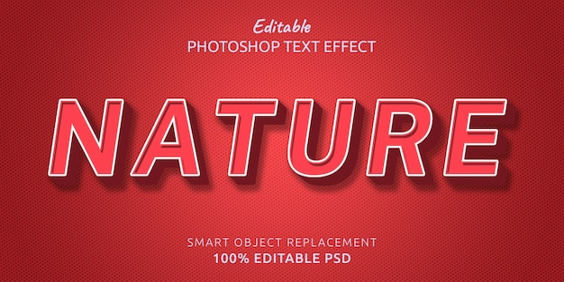 Эффект стиля текста, редактируемый природой photoshop