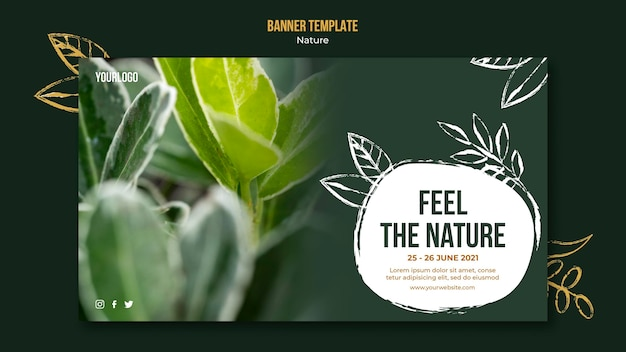 Nature event banner template Free Psd