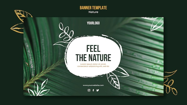 Nature event horizontal banner template