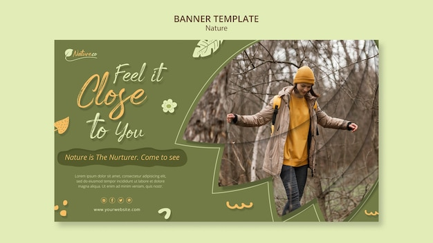 Modello di banner per esplorare la natura