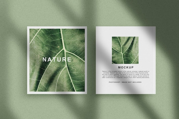 Nature front and back view book mockup