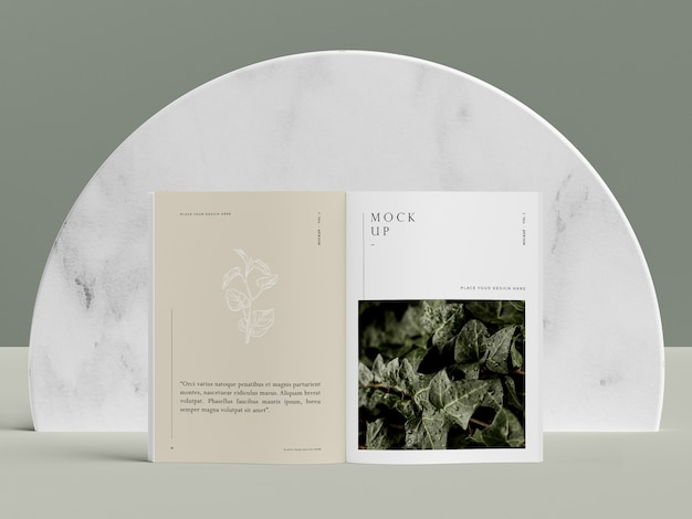 Nature front view editorial magazine mock-up