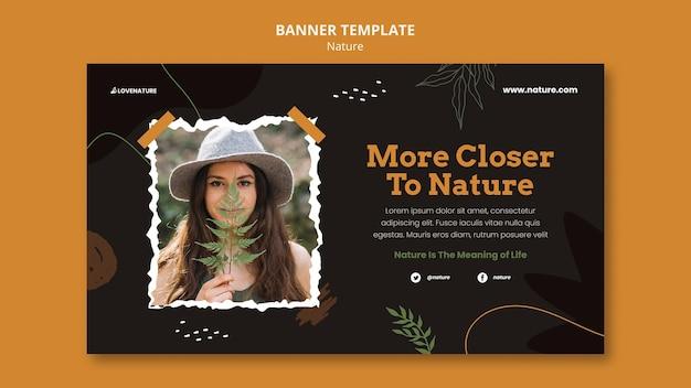 Modello di banner orizzontale della natura