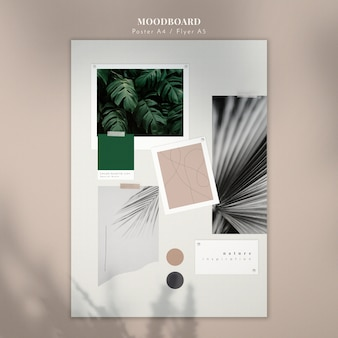 Nature inspiration mood board template