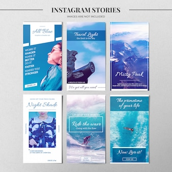 Nature instagram story template