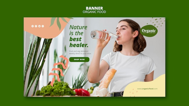 Nature is the best healer banner web template