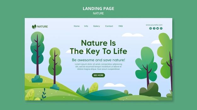 自然は人生の鍵となるウェブテンプレート