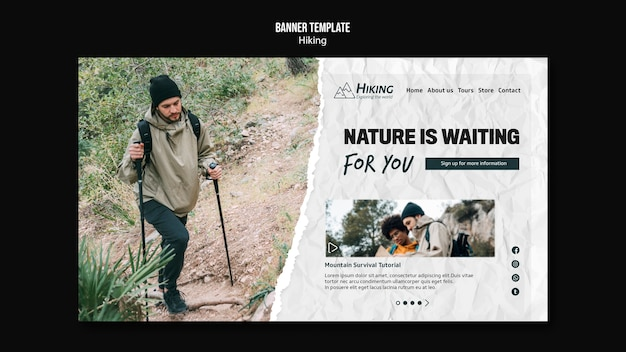 Nature is waiting for you banner template