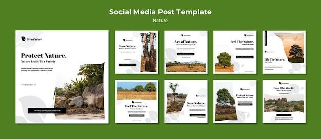 Post sui social media sulla natura
