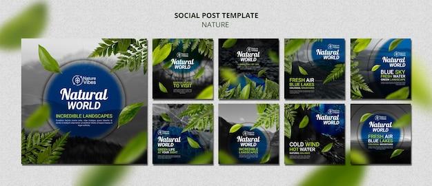 Посты в социальных сетях о природе