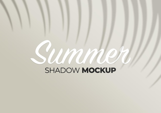 Nature summer background shadow mockup