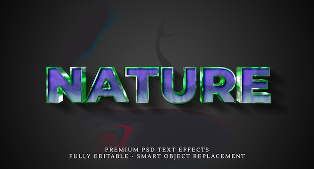 Nature text style effect psd