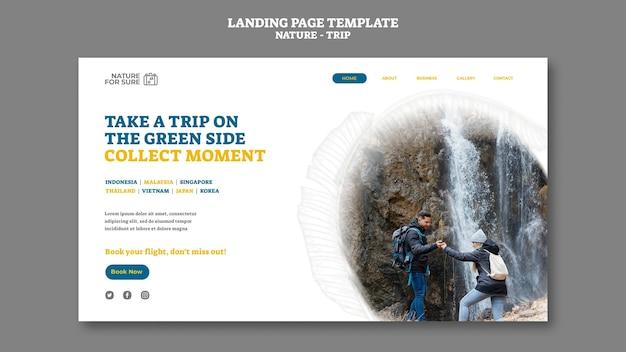 Nature trip landing page