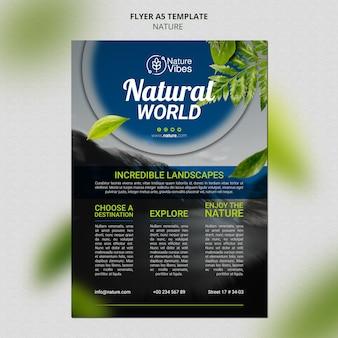 Nature vertical print template