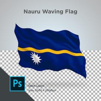 透明なナウルの旗の波のデザイン