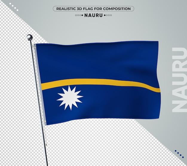 현실적인 스타일으로 나우루 국기