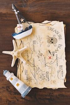 Nautical elements on map