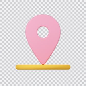 흰색 3d 렌더링된 이미지에 고립 된 탐색 아이콘
