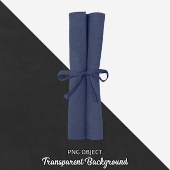 Салфетка темно-синего цвета на прозрачном