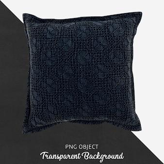Темно-синяя подушка